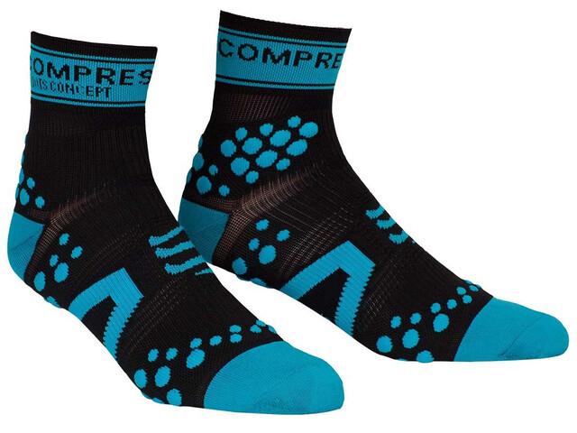 Compressport Racing V2 Run - Chaussettes course à pied - bleu/noir